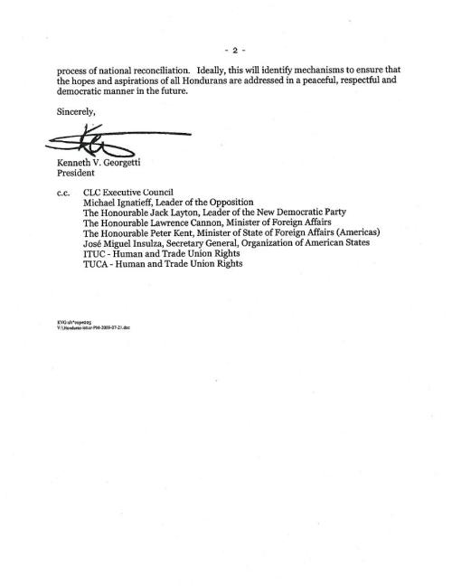 CLC letter to PM page 2