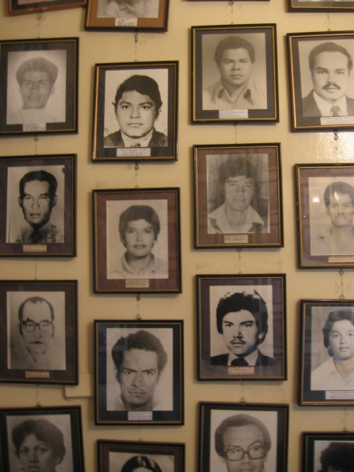 Photos of the Detained-Disappeared in Honduras. COFADEH office, Tegucigalpa, Honduras, July 2009. PHOTO: SANDRA CUFFE