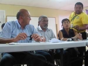 Tegucigalpa, Honduras, July 6, 2009. Carlos H Reyes, Juan Barahona, Mery Agurcia & Radio Progreso.