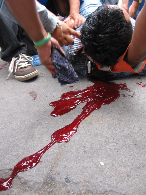 Teacher ROGER ABRAHAM SORIANO VALLEJO, shot in the head by police