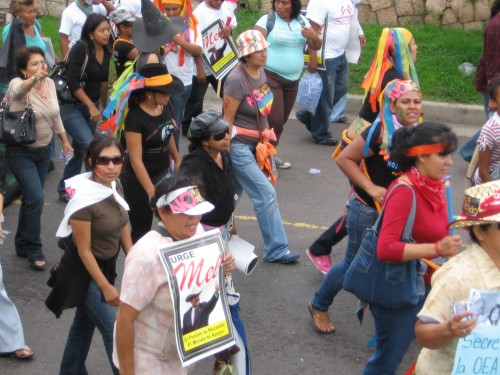 Women in Resistance!, Tegucigalpa, July 3, 2009. Photo: Sandra Cuffe