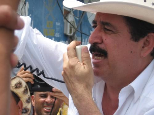 Presidente Manuel Zelaya. Ocotal, Nicaragua, 26 julio 2009. Foto: Sandra Cuffe