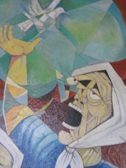 Detail from a painting in the COFADEH office in Tegucigalpa, Honduras. Photo: Sandra Cuffe