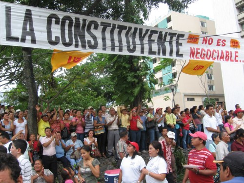 'The National Constituent Assembly is Not Negotiable' - Photo: Sandra Cuffe