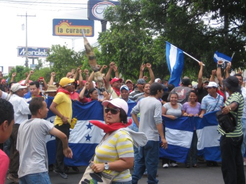 National Resistance Movement in Honduras. Photo: Sandra Cuffe