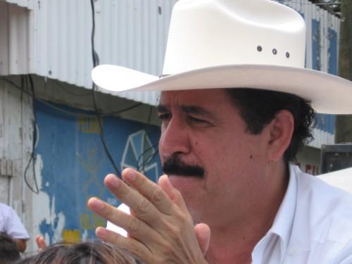 Presidente Manuel Zelaya Rosales. El Ocotal, Nicaragua, 26 julio 2009. Foto: Sandra Cuffe